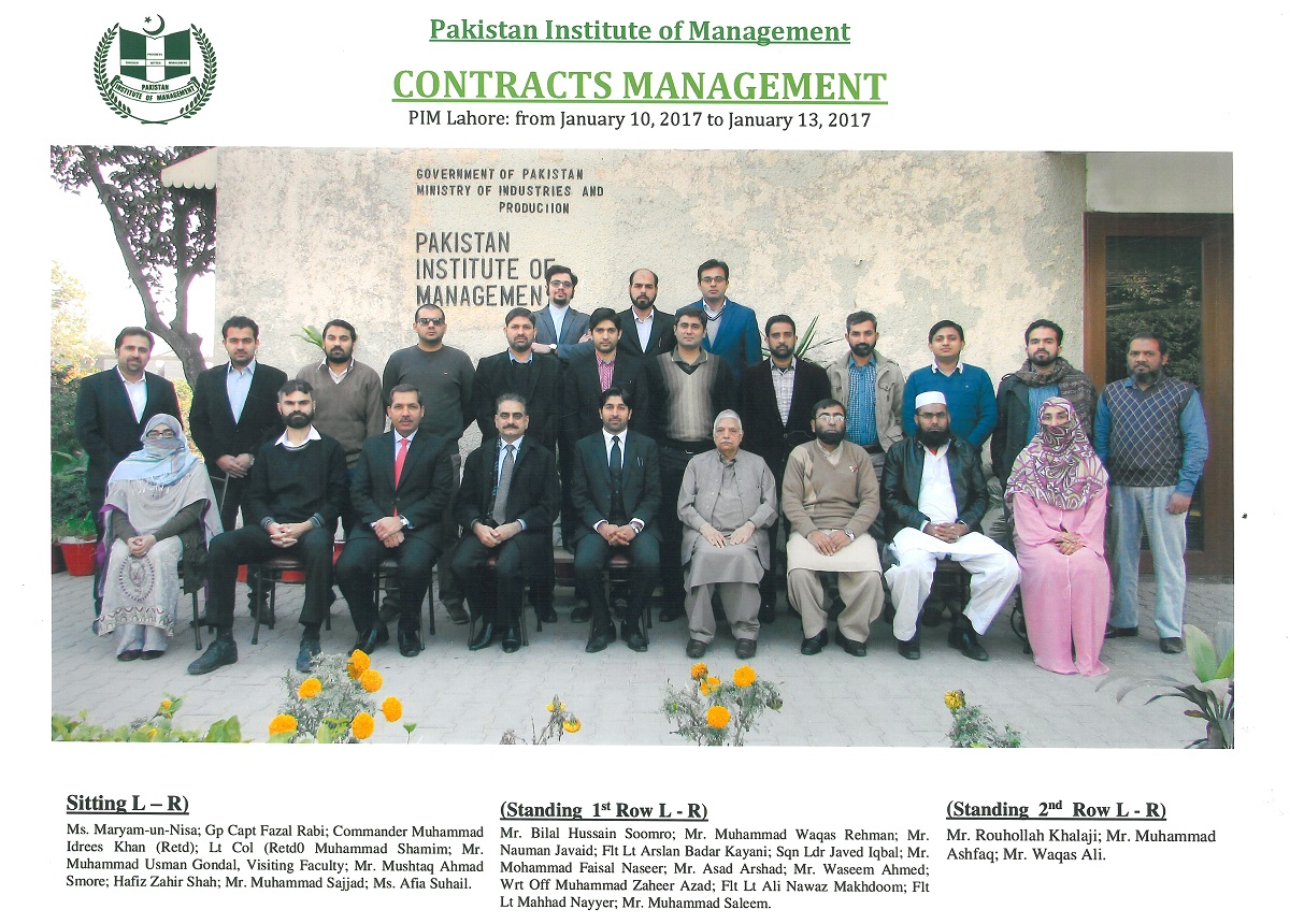 Rouhollah Khalaji, Pakistan Istitute of Management