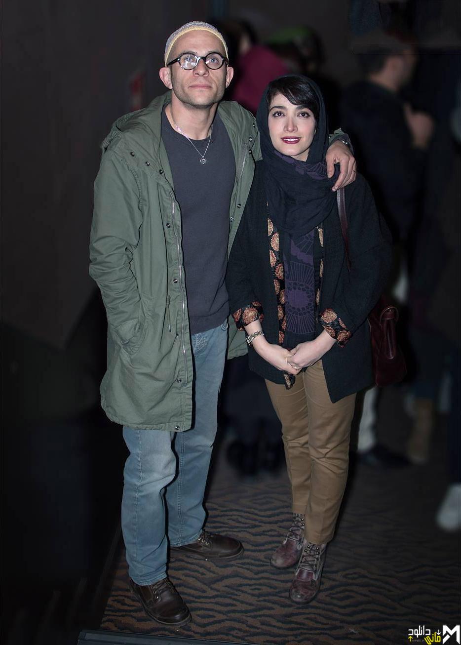 تصویر بابک حمیدیان و زنش مینا ساداتی