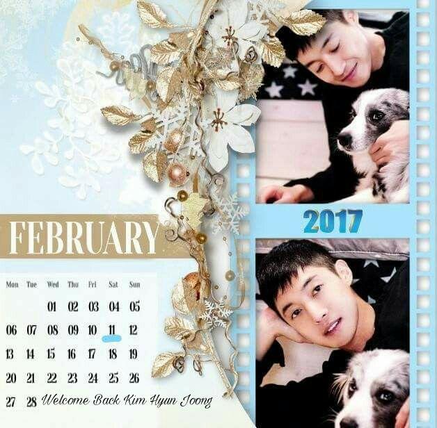 Calendar of February 2017