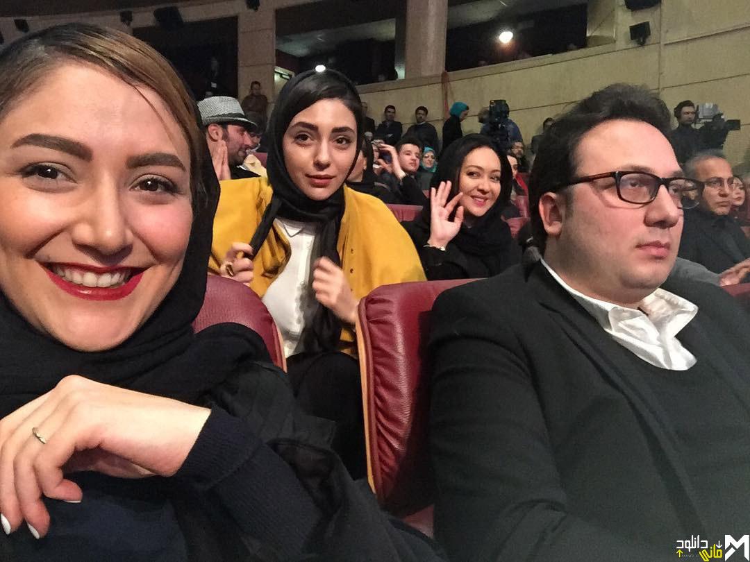 عکس هستی مهدوی فر در افتتاحیه سی و پنجمین جشنواره فیلم فجر