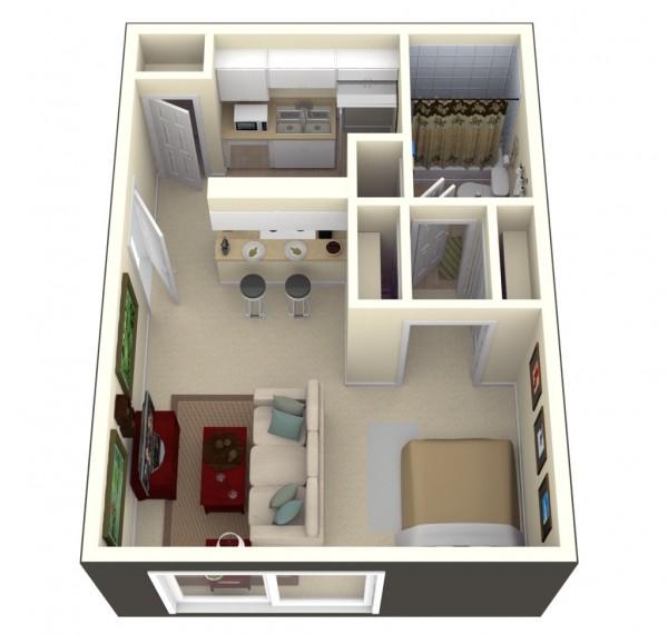 پلان و چیدمان منزل کوچک4
