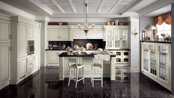 کابینت به سبک کلاسیک در آشپزخانه