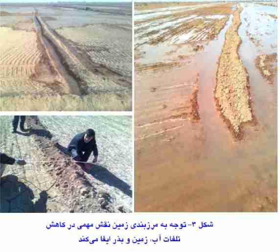 مرزبندی زمین جهت کاهش تلفات آب