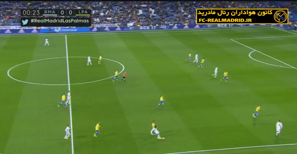خلاصه بازی رئال مادرید 3-3 لاس پالماس