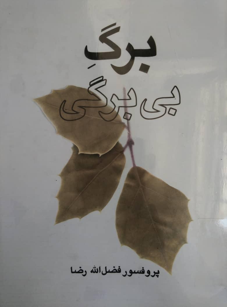 کتاب «برگِ بیبرگی» نوشتهی پروفسور فضلالله رضا. تهران: صدای معاصر، ۱۳۸۰، چاپ اول (۴۰۰ صفحه).