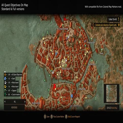 ماد نمایش تمام ماموریت ها و لوکیشن ها در نقشه(Witcher 3)