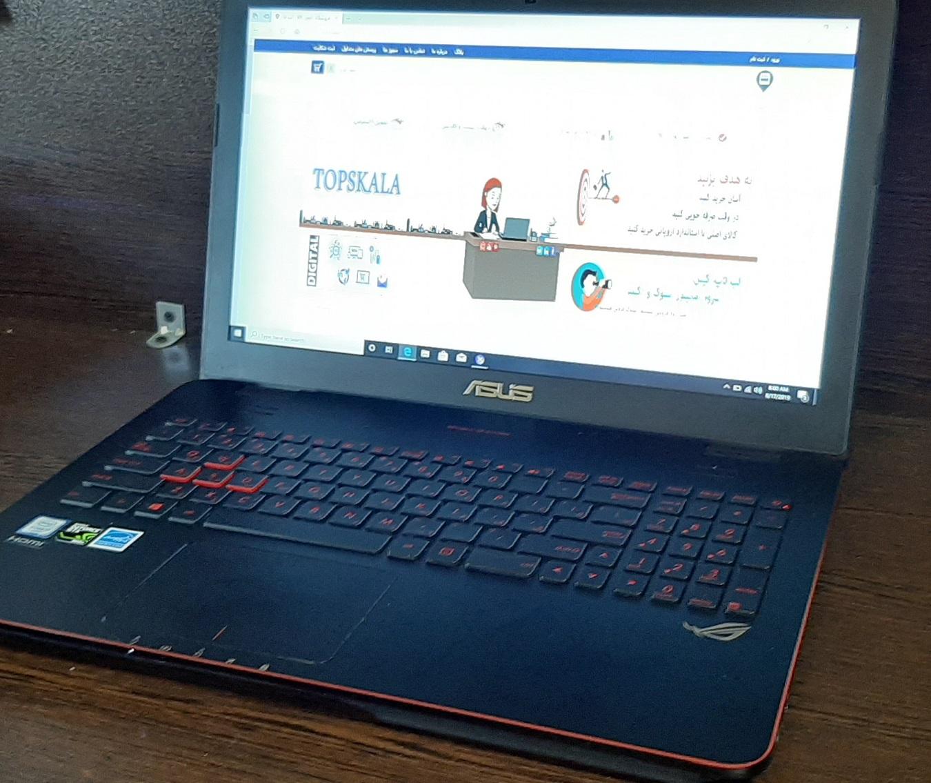 لپ تاپ استوک ایسوس مدل ASUS ROG G551VW با مشخصات 960-i7-6gen-16GB-2TB-HDD-4GB-nvidia-GTX