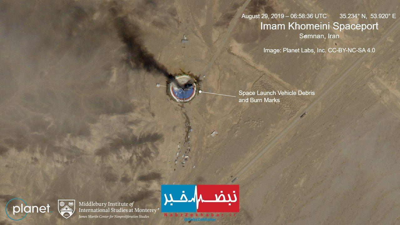 رسانه های آمریکایی:یک موشک ماهوارهای در یک پایگاه فضایی ایران منفجر شد