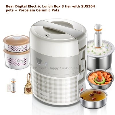 سفارش ظرف غذا برقی مدل خرس برقی Bear Electric Lunch Box