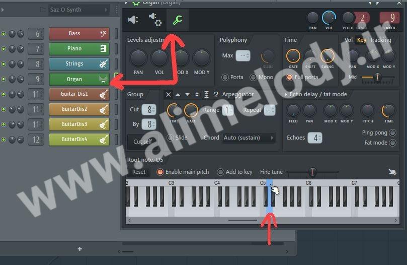 آموزش ترانسپوز و تغییر گام در نرمافزار FL Studio