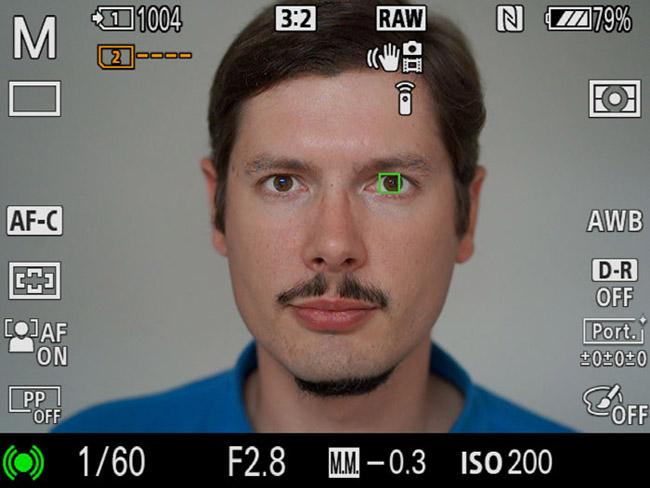 توانایی تشخیص چشم برای فوکوس دقیق روی چهره