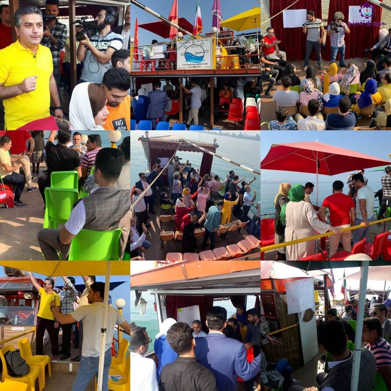 جلسه منتورینگ استارتاپ ها در جزیره کارآفرینی روی کشتی