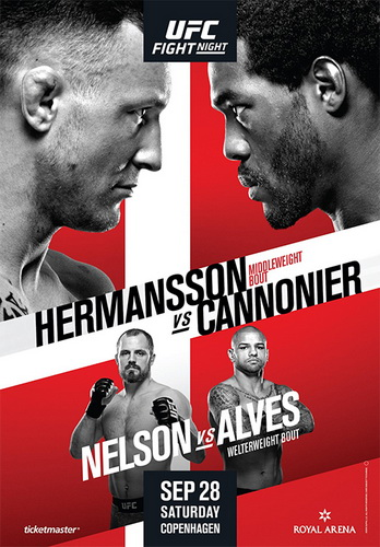 نتایج رویداد : UFC Fight Night: Hermansson vs. Cannonier