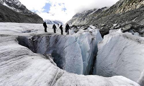 یخچال طبیعی ایتالیا در آستانه ریزش